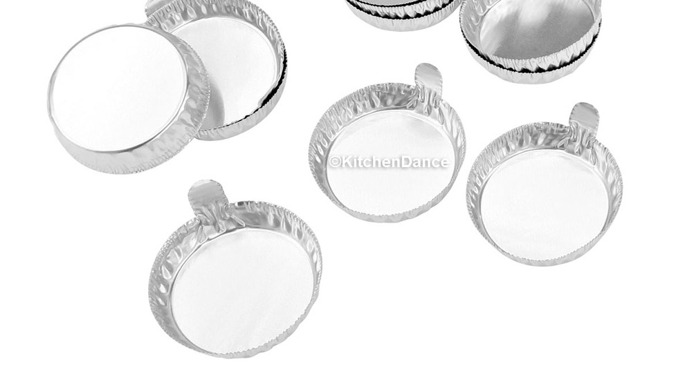 disposable aluminum foil 57mm weighing dish