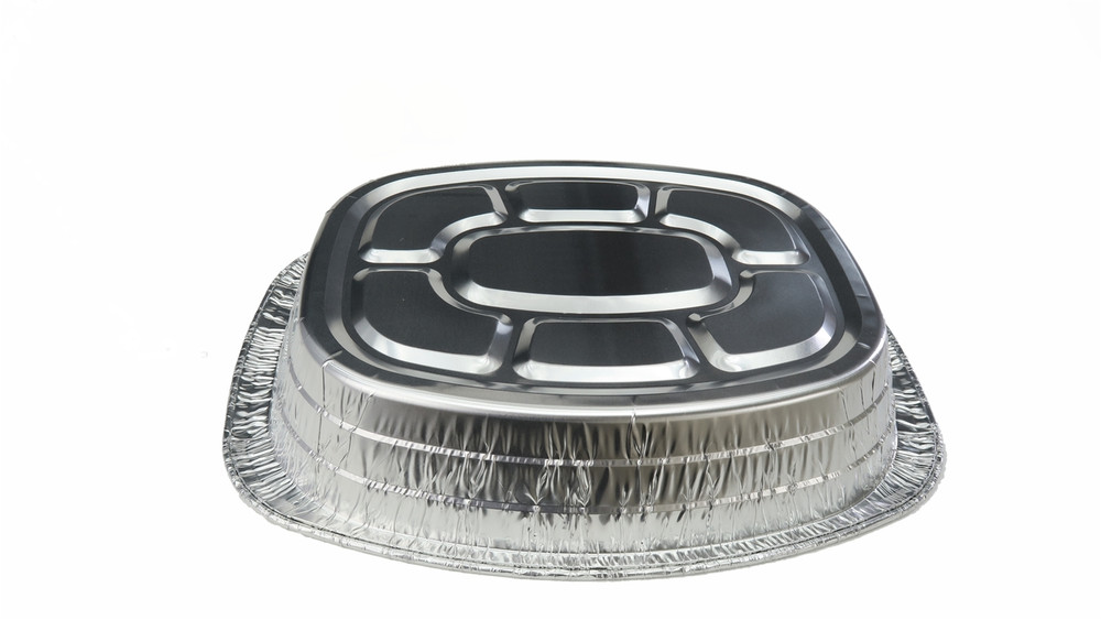 Disposable Large Oval Roaster Aluminum Foil Pan, baking pan