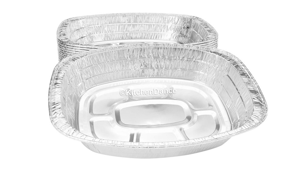 disposable aluminum foil deep baking pan, roaster pan