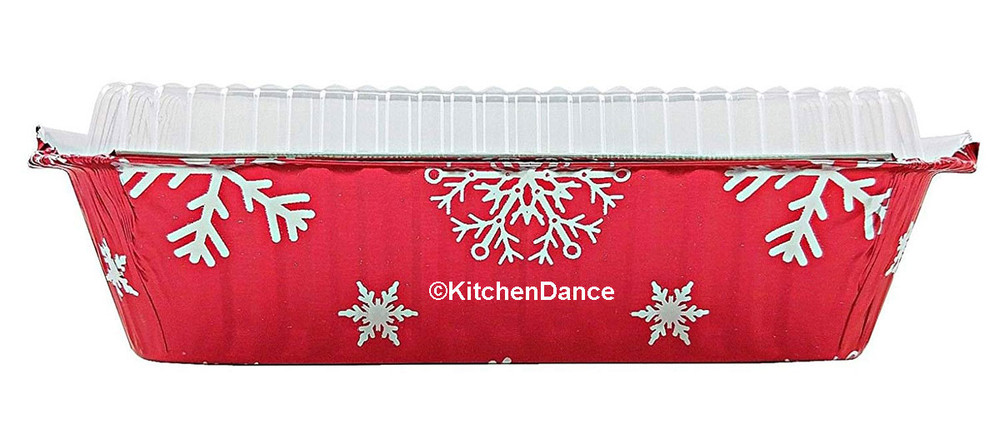 disposable aluminum foil 2¼ lb. holiday baking pan, food container