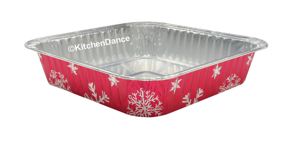 "disposable aluminum foil 8"" square baking pan, serving pan"