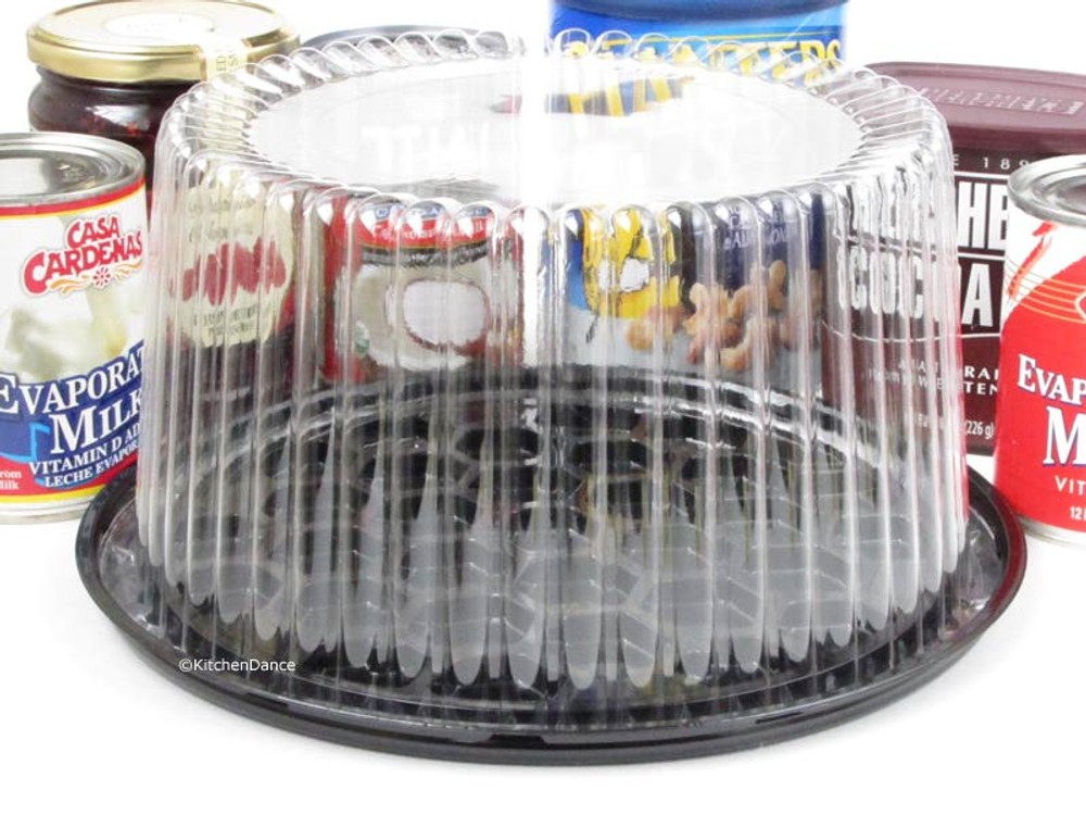 "Plastic 8"" Display Cake Container - for 2-3 layers"