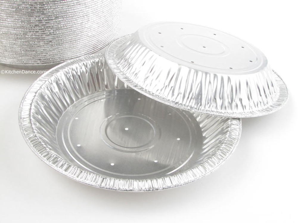 "disposbale 8"" Perforated Foil Pie Pan - Deep"
