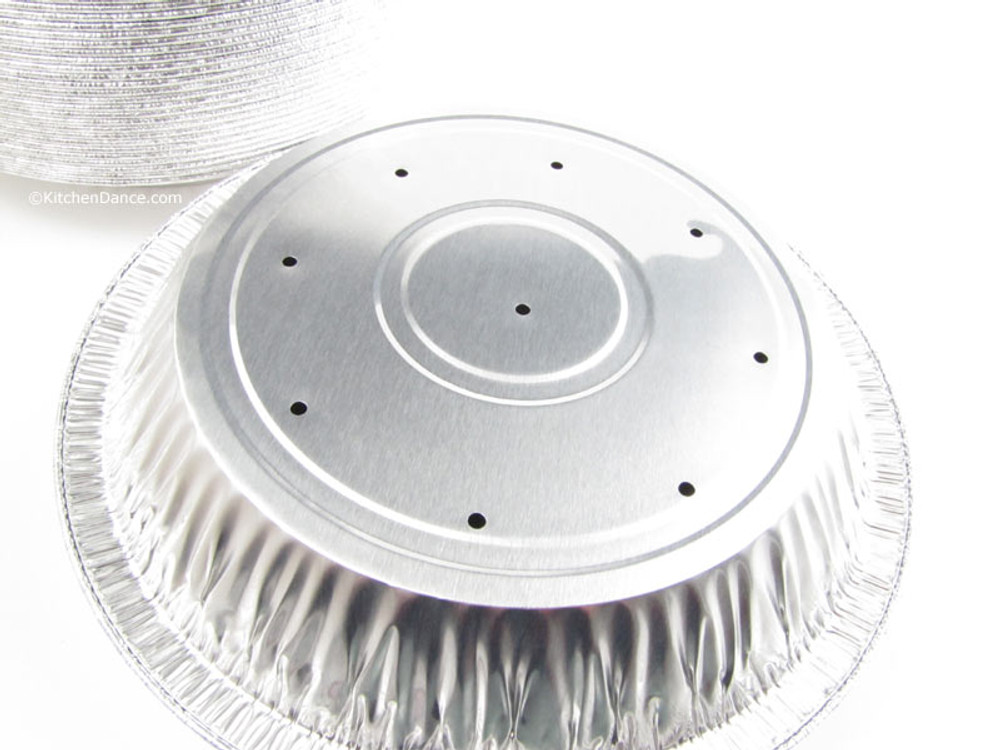 """disposable 8"""" Perforated Foil Pie Pan - Deep"""