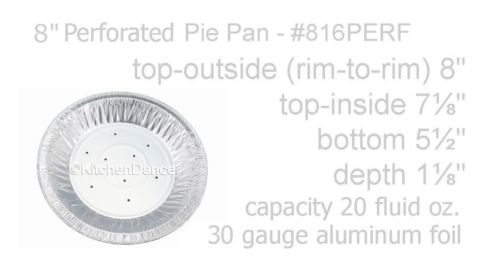 "disposbale 8"" Perforated Foil Pie Pan - Deep"