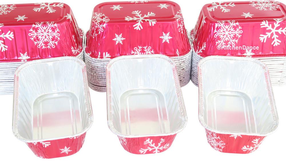 disposable aluminum foil 1lb. loaf pans, holiday baking pans