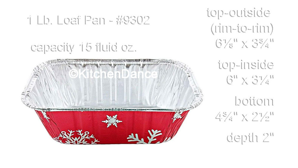 disposable aluminum foil 1lb. loaf pans with lids, holiday baking pans
