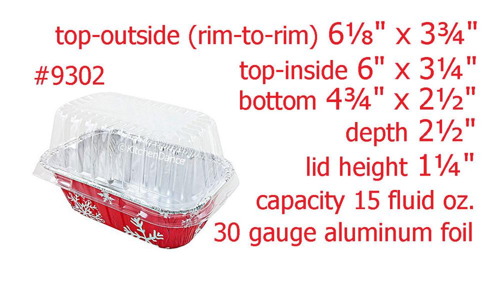 disposable aluminum foil 1lb. loaf pans with lids, holiday baking pans