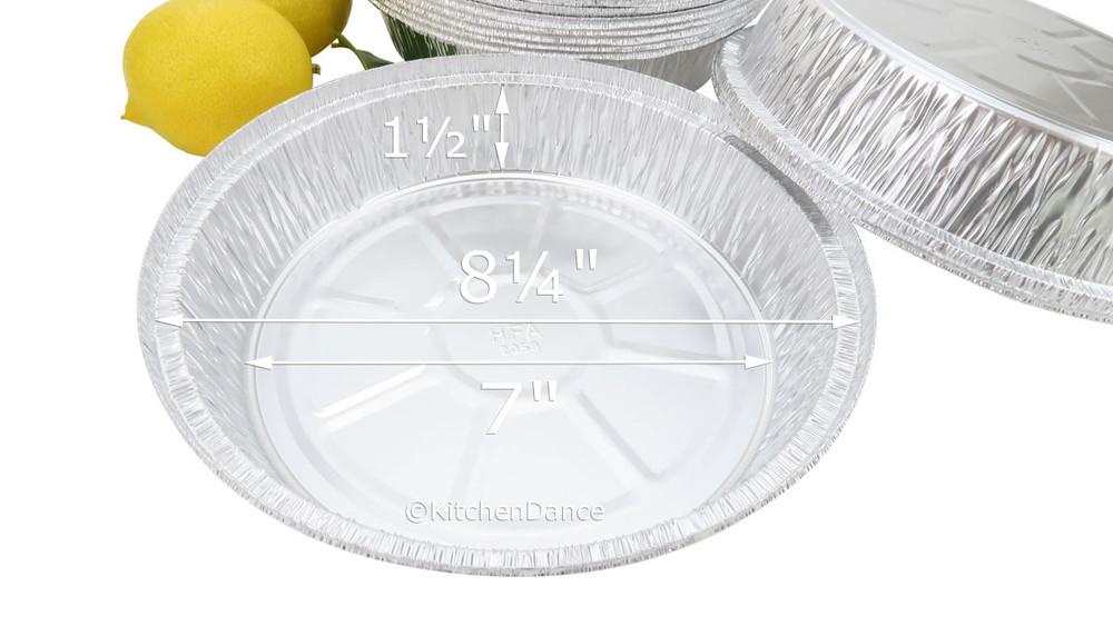 "disposable aluminum foil 8"" carryout pans / takeout pans, baking pans, food containers"