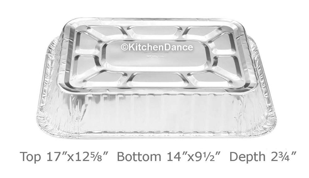 Disposable Large Rectangular Aluminum Foil Pan