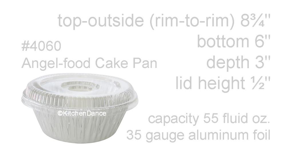disposable aluminum foil angel food cake pan, baking pan, food container