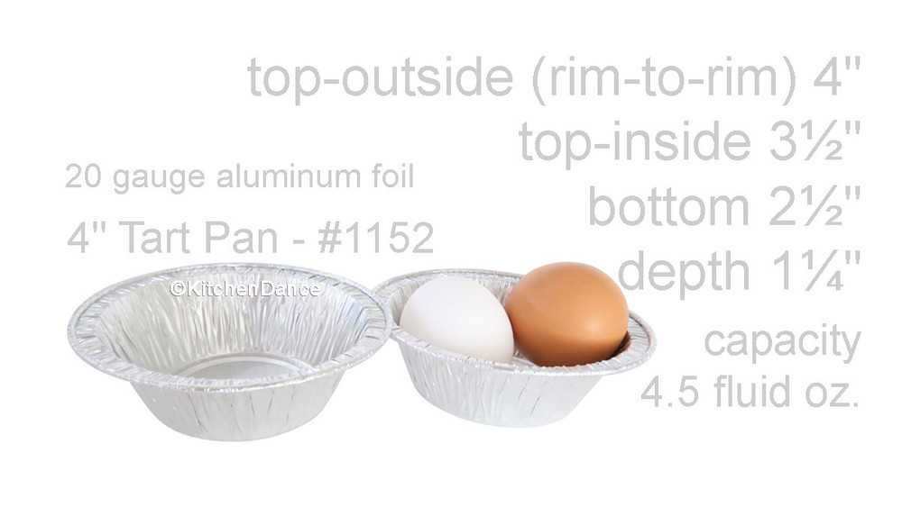 "disposable aluminum foil 4"" tart pan, mini pie pan, pie tin, small baking pan"