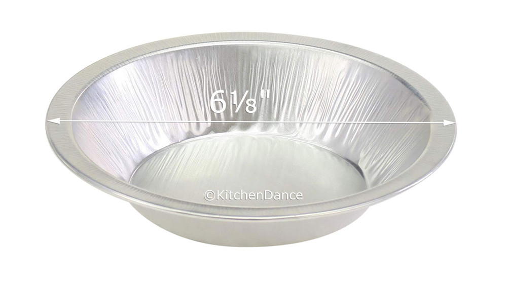 """disposable aluminum foil 6"""" heavy-weight pie pan, small size"""