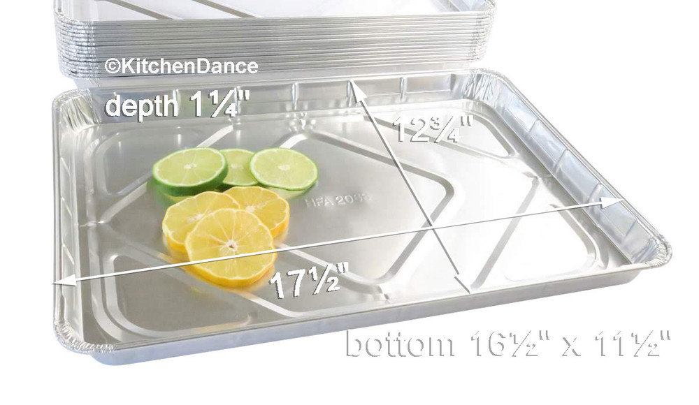 disposable aluminum foil half size sheet cake pan, baking pan, baking tray