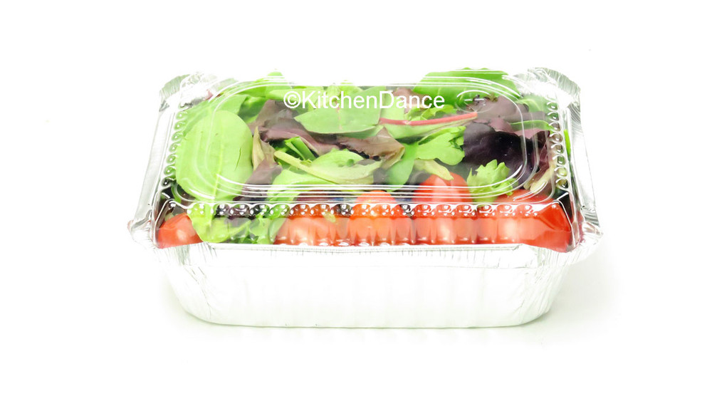 disposable aluminum foil 1.5 pound carryout/takeout pans, baking pans, food container with plastic lid