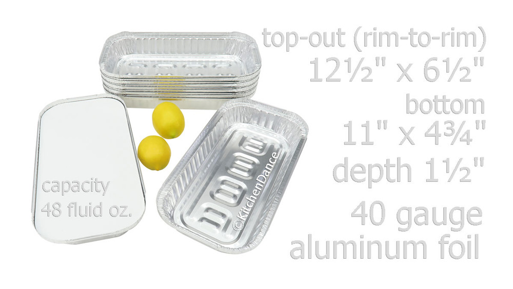 disposable aluminum foil three pound carryout/takeout pans, baking pans, food containers