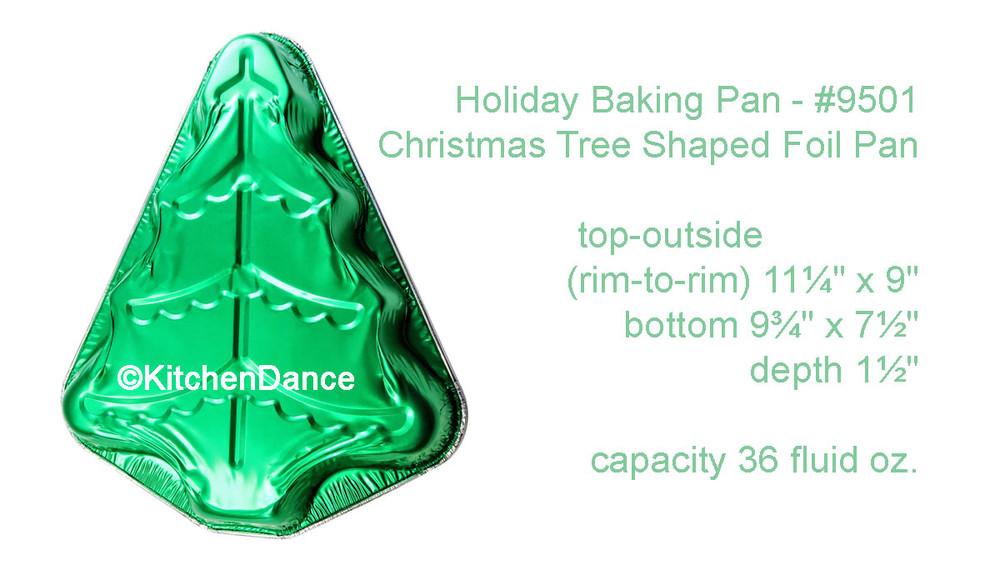 disposable aluminum foil holiday baking pan, Christmas Tree Shaped