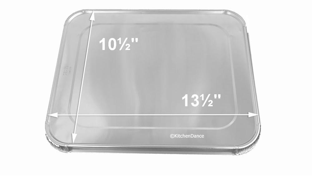 disposable aluminum foil half size steam table pans
