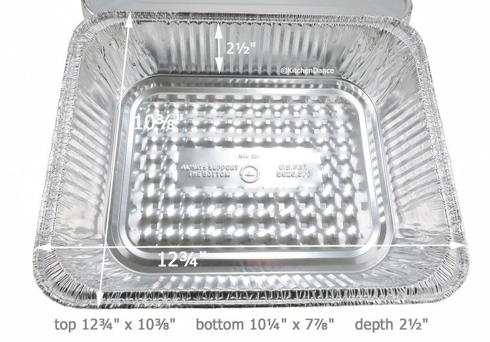 disposable aluminum foil half size deep steam table pan