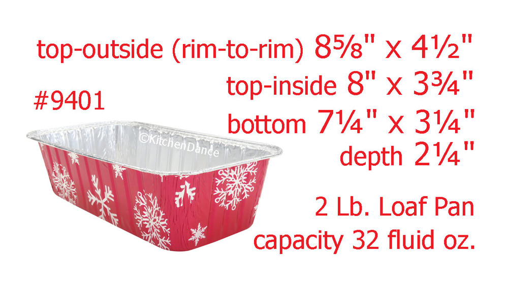 disposable aluminum foil 2 lb. loaf pan, christmas holiday baking pan, food serving pan