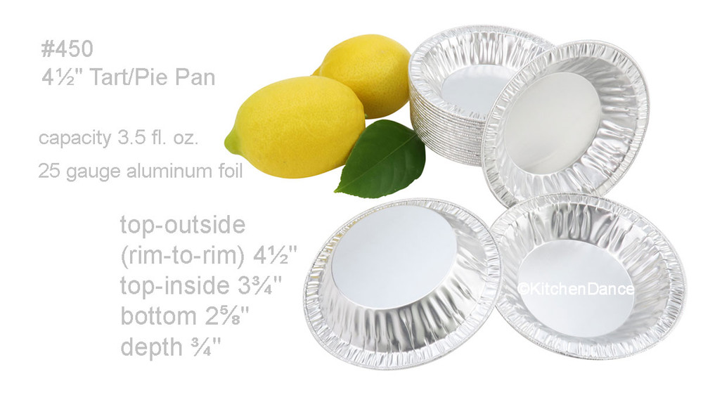 "disposable aluminum foil 4½"" tart pan, pie tin, mini pie pan, small baking pan"