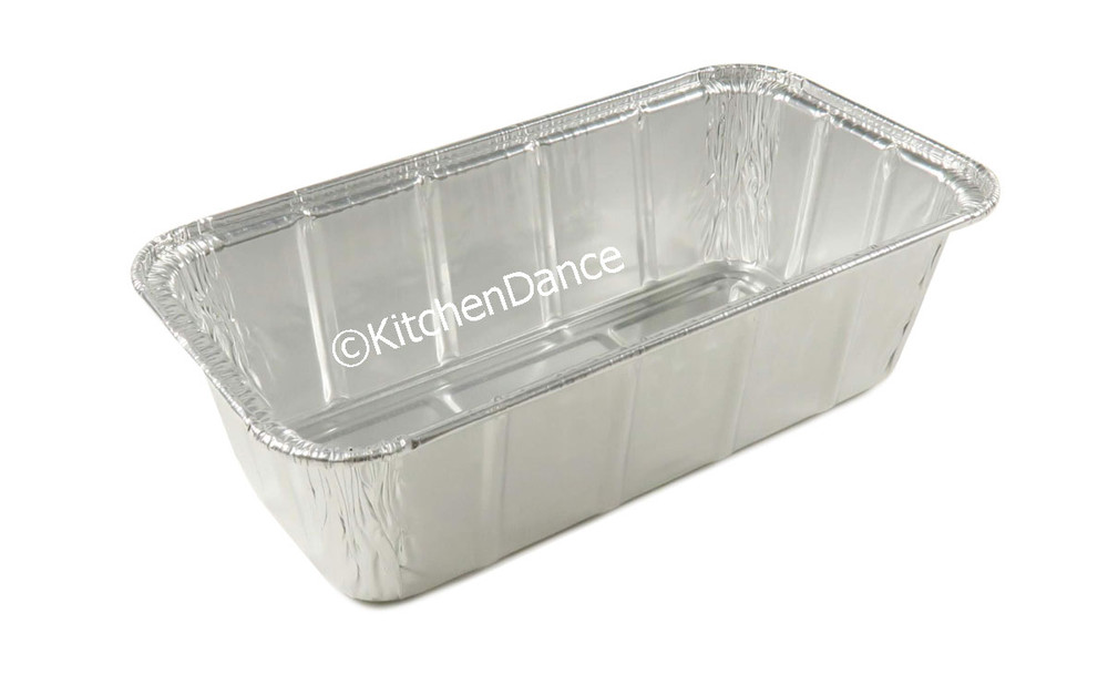 disposable aluminum foil 1.5 lb. loaf pan, baking pan, food container
