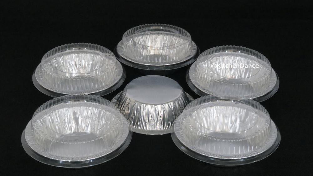 "Plastic Lids for 5"" Foil Tart Pans - for #501  *LIDS ONLY*"