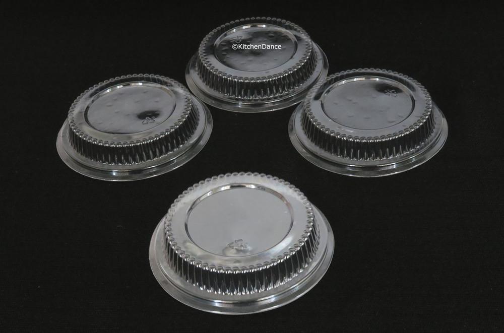 "Plastic lids for 5"" tart pan, pie pan"