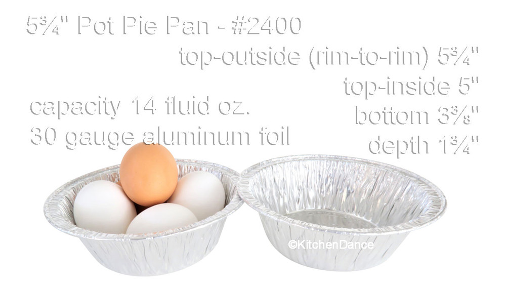 "disposable aluminum foil 5¾"" part pan, pie pan, baking pan, food serving pan"
