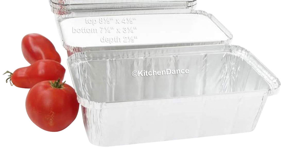 disposable aluminum foil 2 lb. loaf pans, baking pans, food storage container with board lid