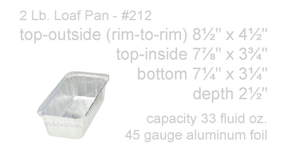 disposable aluminum foil 2 lb. loaf pan, baking pan, food serving pan