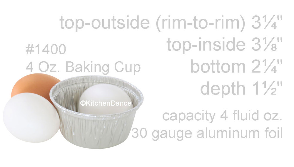 disposable aluminum foil 4oz. cupcake bowl, souffle cup, mini baking cup, individual serving size dessert cup