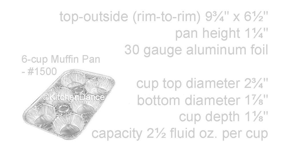 disposable aluminum foil 6 cup / 6 count muffin pan, baking pan, baking tray