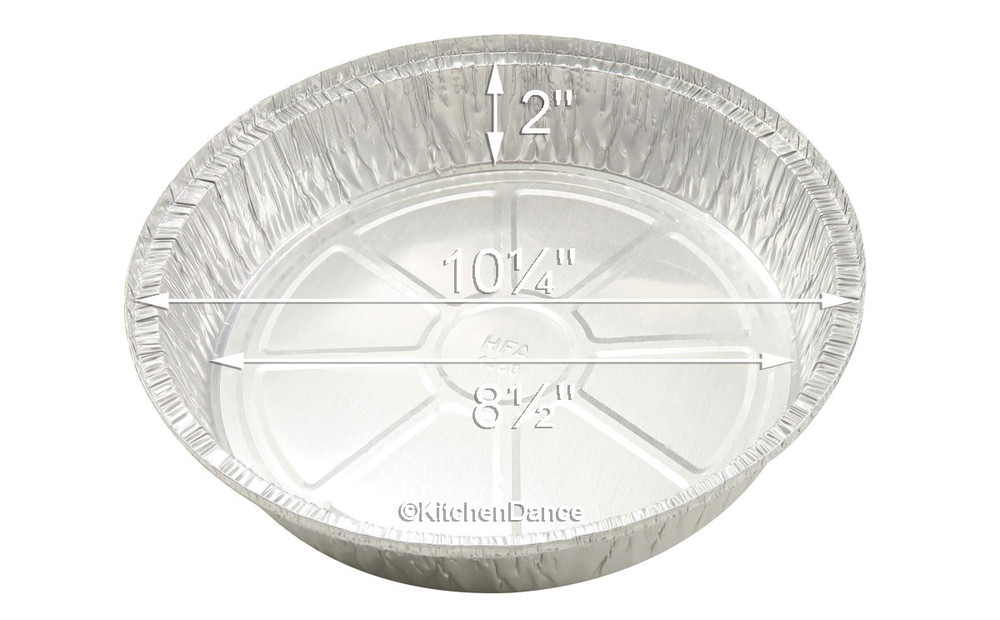 "disposable aluminum foil 10"" round baking pan, carryout pan, takeout pan"