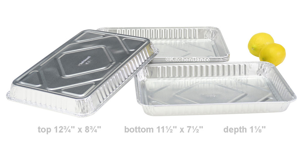 disposable aluminum foil ¼ size sheet cake baking pan