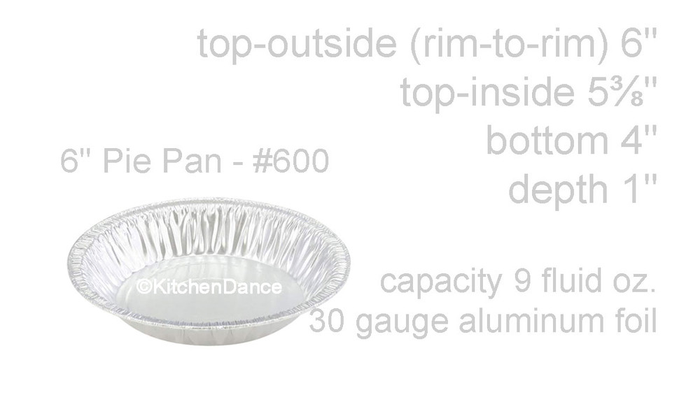 "disposable aluminum foil 6"" pie pan, baking pan - standard depth"