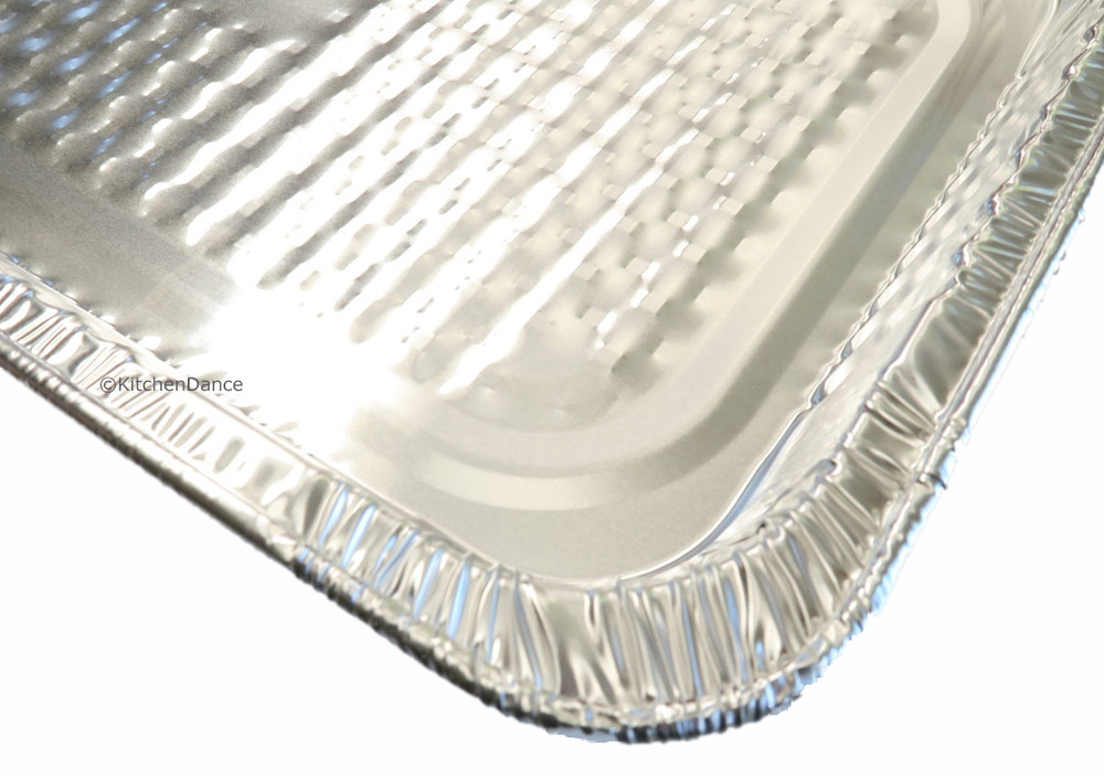 disposable aluminum foil full-size steam table pan, medium depth
