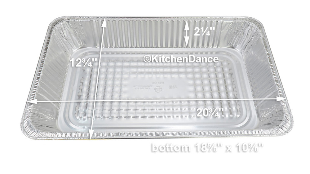 disposable aluminum foil full size steamtable baking pan - medium depth