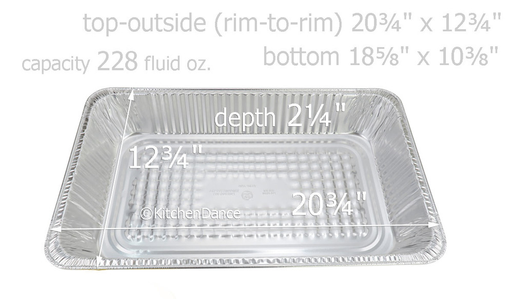 disposable aluminum foil full size steam table baking pan  - medium depth