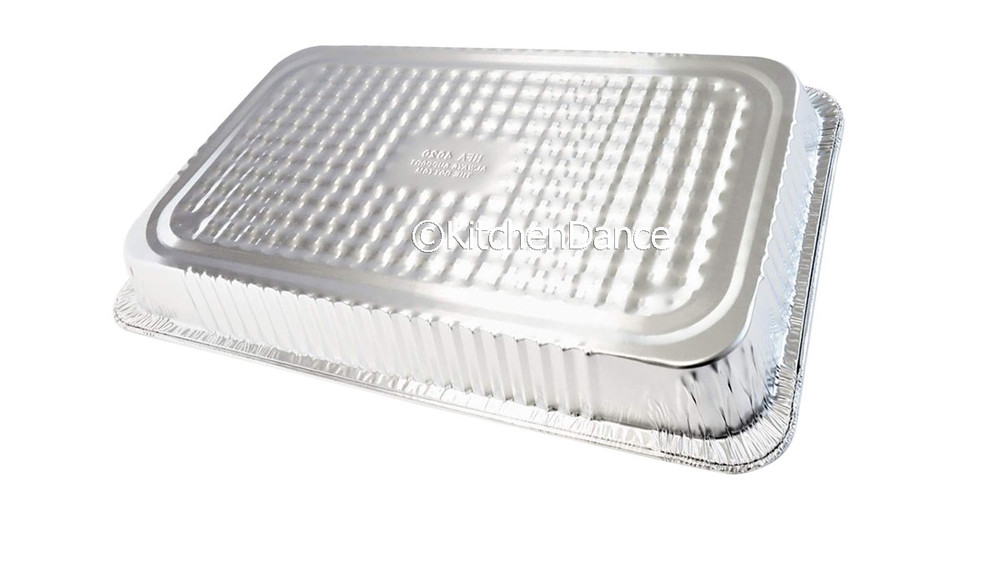 Disposable Full Size Steam Table Foil Pan Medium Depth - Pack of 50   #7800