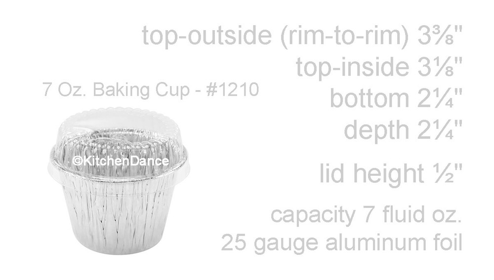 disposable aluminum foil 7 oz dessert cup, deep baking cup, baking cup with plastic lid