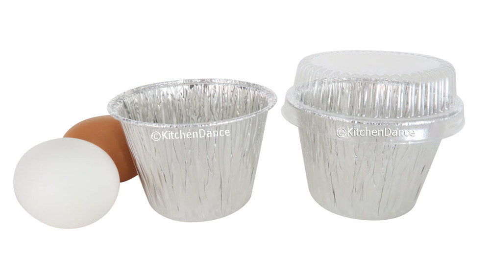 disposable aluminum foil 7 oz dessert cups, deep baking cups with plastic lids