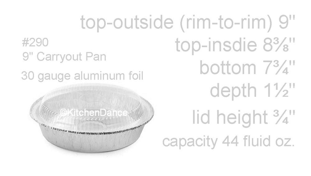 "disposable aluminum foil 9"" carryout/takeout pans, baking pans, food containers"