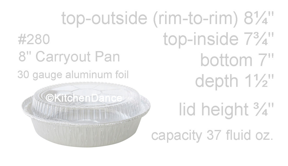 "disposable aluminum foil 8"" carryout pans / takeout pans, baking pans, food containers"