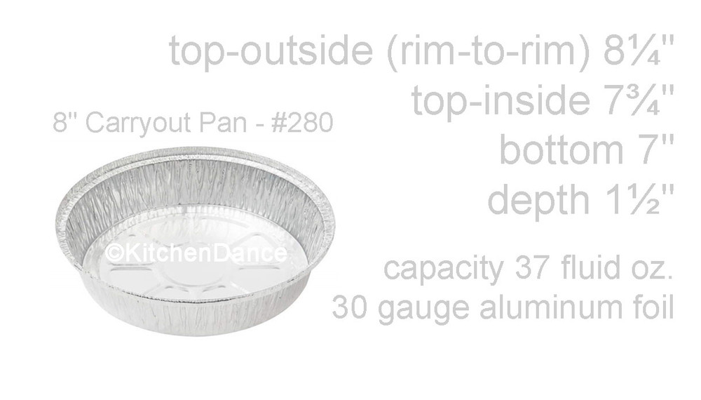 "disposable aluminum foil 8"" carryout pans / takeout pan, baking pan, food serving pan"
