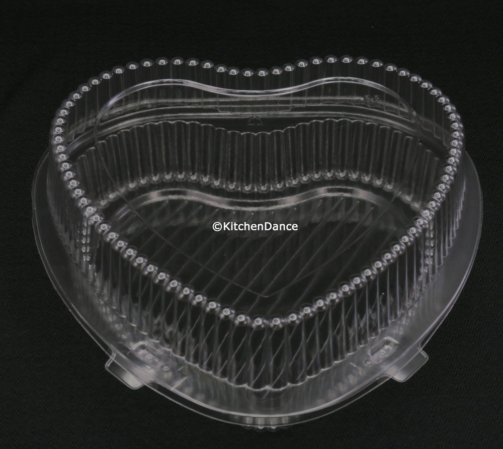 plastic clamshell container for heart shaped pans