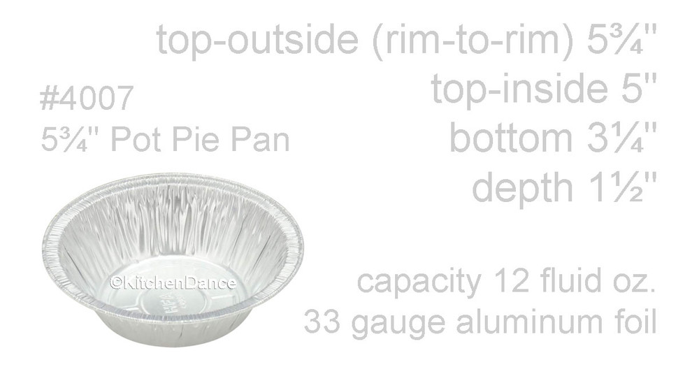 "disposable aluminum foil 5¾"" pot pie pan, deep baking pan"