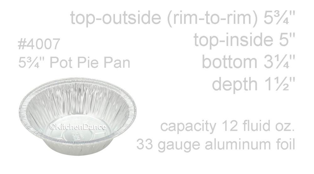 "disposable aluminum foil 5¾"" pot pie pan, baking pan"