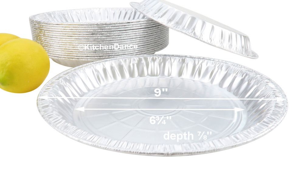 "disposable aluminum foil 9"" pie pan,  medium depth baking pans"