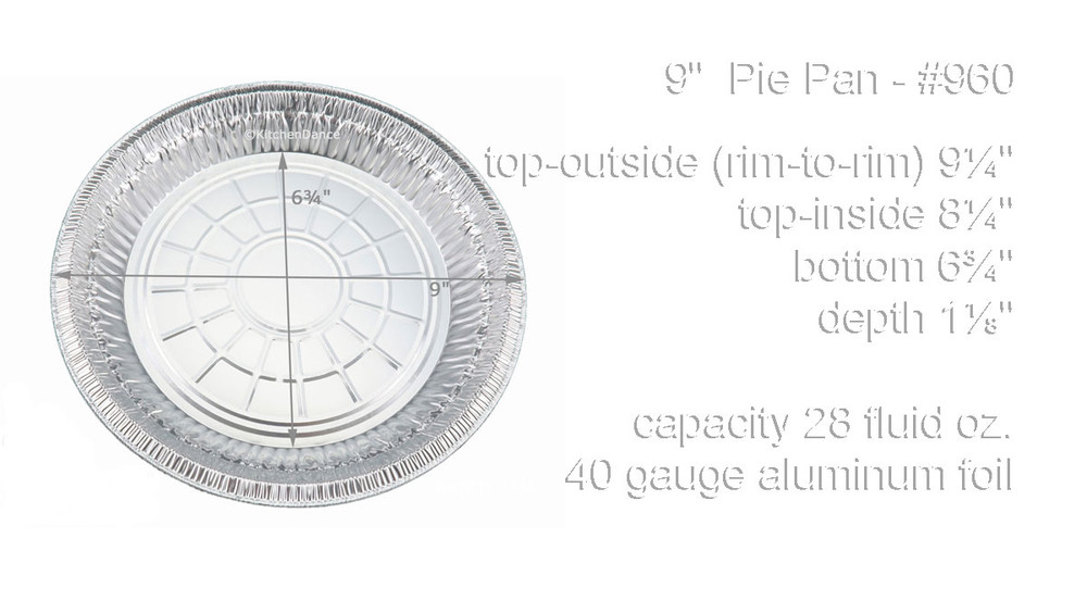 "disposable aluminum foil 9"" pie pan, baking pan"